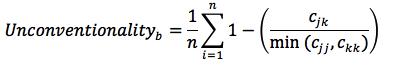 unconventionality equation
